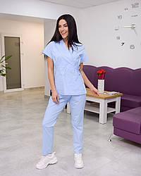Жіночий медичний костюм Эдельвика Premium блакитний