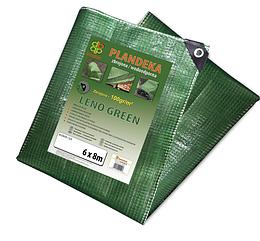 Тент (тарпаулин) LENO GREEN 8 х 10 м, 100г - прозрачный,  PLCG1008/10