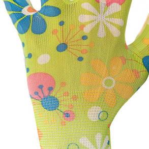 """Перчатки Intertool - садовые нитриловые 8"""" (зеленая) 12 шт., фото 2"""