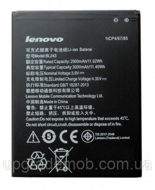 Аккумулятор акб батарея BL243 Lenovo A5600/A5860/A7000/A7600/K3 Note K50-T5 2900 mAh