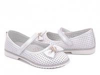 Детские туфли BBT на девочку. Цвет белый. Размер 31-36.