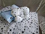 Комплект постельного белья для новорожденных Манюня Единороги в кроватку ( коляску) плед + подушка + простынь, фото 3