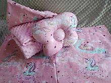 Комплект постельного белья для новорожденных Манюня Единороги в кроватку ( коляску) плед + подушка + простынь