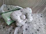 Комплект постельного белья для новорожденных Манюня Единороги в кроватку ( коляску) плед + подушка + простынь, фото 7