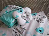 Комплект постельного белья для новорожденных Манюня Единороги в кроватку ( коляску) плед + подушка + простынь, фото 8