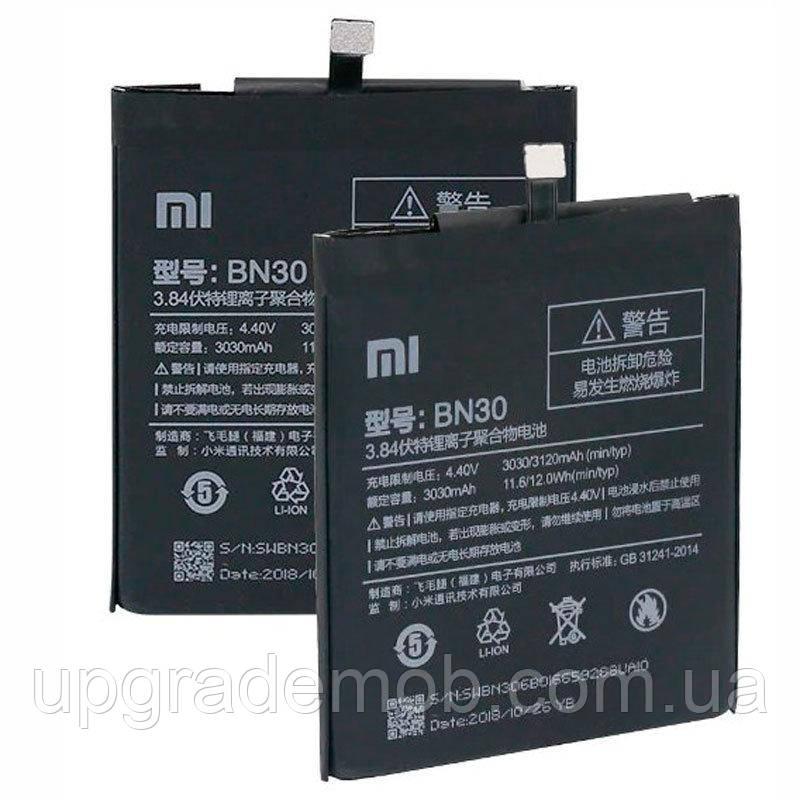 Аккумулятор акб батарея BN30 Xiaomi Redmi 4A 3030/3120 mAh