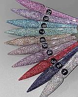 Светоотражающий Гель-лак Saga Fiery Gel №5, 8 мл - 10 цветов в ассортименте - Плотный Переливающийся Гель лак