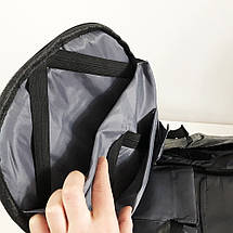Комплект: часы наручные QUAMER, ремешок каучук, dual time + рюкзак Travel Bag D3718-1, фото 2