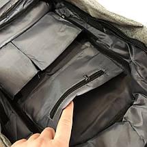 Комплект: годинники наручні QUAMER, ремінець каучук, dual time + рюкзак Travel Bag D3718-1, фото 3