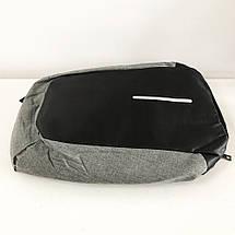 Комплект: годинники наручні QUAMER, ремінець каучук, dual time + рюкзак Travel Bag D3718-1, фото 2