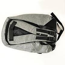 Комплект: часы наручные QUAMER, ремешок каучук, dual time + рюкзак Travel Bag D3718-1, фото 3