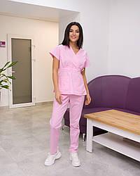 Жіночий медичний костюм Эдельвика Premium рожевий