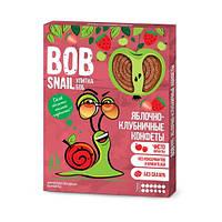 Натуральные конфеты Bob Snail (Улитка Боб), яблоко + клубника, 60 г