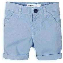 Детские голубые шорты для мальчика  1 - 2 года, 80-92 см Minoti, 80-86 см