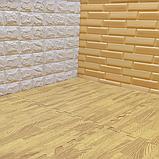 Підлога пазл, м'яке модульне підлогове покриття Бурштинове дерево, упаковка - 4 блоки, фото 3