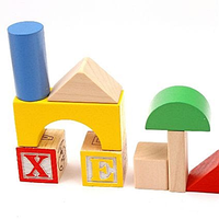 Деревянный конструктор бревнышки с кубиками   70 пр. ASDA PLAY & LEARN WOODEN BLOCKS