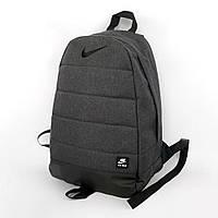 Рюкзак Найк / Nike / AIR мужской | женский темно - серый спортивный портфель черное лого