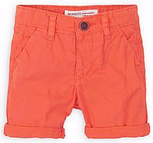Детские оранжевые шорты для мальчика  1 - 8 лет,  80-86 см Minoti