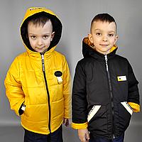 Куртка детская на мальчика двусторонняя весна / осень (104-122)