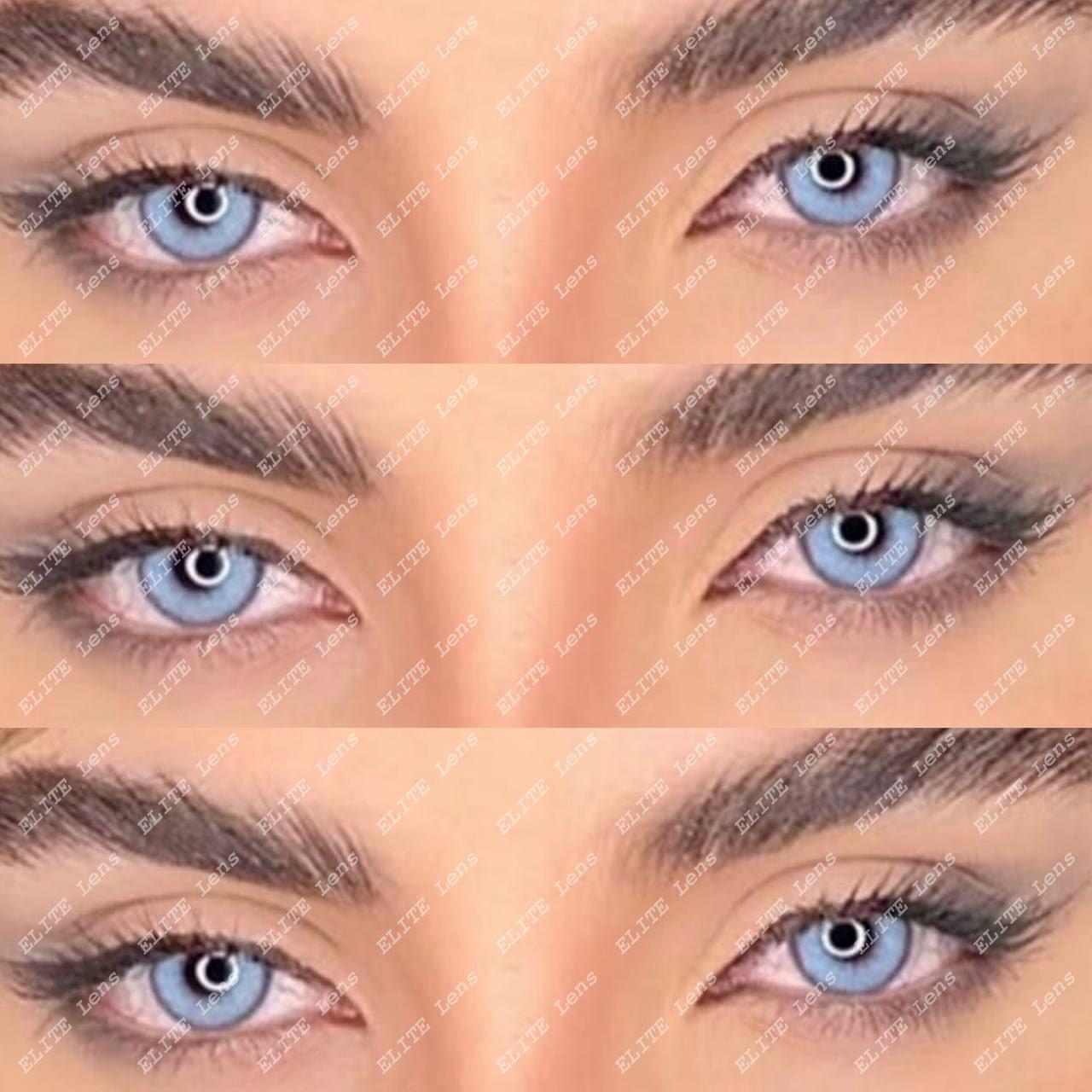 """Карие линзы """"Айс Чоколад"""" на светлых глазах"""