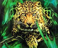 """Алмазная Мозаика на подрамнике . Набор алмазной вышивки на подрамнике """"Леопард 2"""". Размер 40*30 см."""