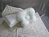 Комплект постельного белья для новорожденных Манюня Единорог в кроватку ( коляску) плед + подушка + простынь, фото 3