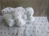 Комплект постельного белья для новорожденных Манюня Единорог в кроватку ( коляску) плед + подушка + простынь, фото 5