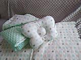 Комплект постельного белья для новорожденных Манюня Единорог в кроватку ( коляску) плед + подушка + простынь, фото 6