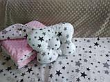 Комплект постельного белья для новорожденных Манюня Единорог в кроватку ( коляску) плед + подушка + простынь, фото 7