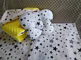 Комплект постельного белья для новорожденных Манюня Единорог в кроватку ( коляску) плед + подушка + простынь, фото 9