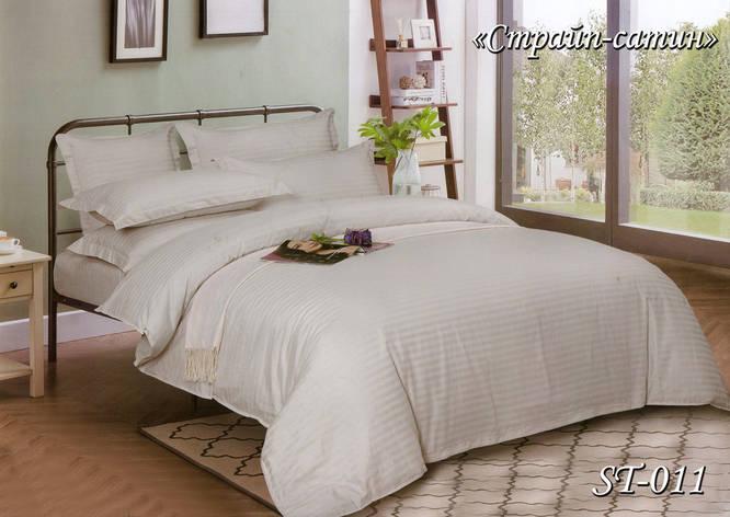 Комплект постельного белья Тет-А-Тет семейный Страйп сатин ST-011, фото 2
