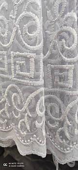 Тюль фатиновая в белом цвете, высота 1,6м ( 856 )