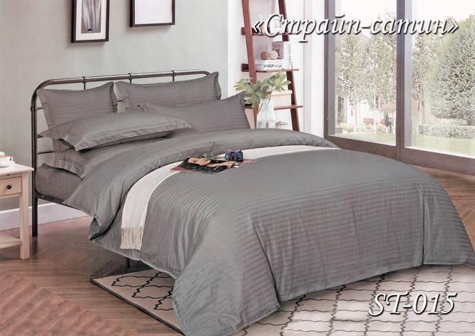 Комплект постельного белья Тет-А-Тет семейный Страйп сатин ST-015, фото 2