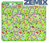 Детский развивающий коврик двухсторонний Дорога/Парк с животными 200x180x0.5см