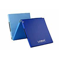 Коврик для тренировки LiveUp 3-Fold Exercise Mat 180х60х4 см (LS3254) Blue