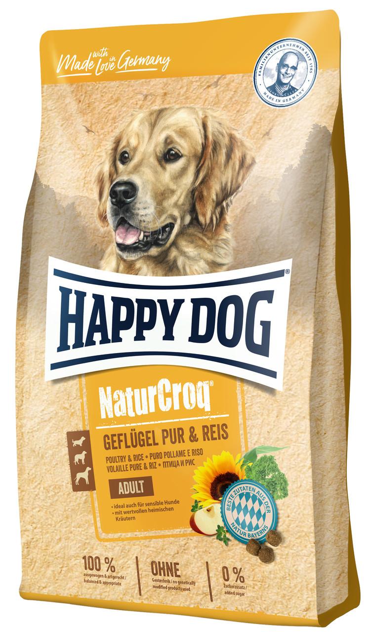 Сухий корм Happy Dog Naturcroq Geflugell Pur&Reis  для дорослих собак  всіх порід з птицею та рисом, 4КГ