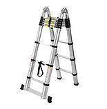 Телескопическая лестница приставная на 13 ступеней, фото 3