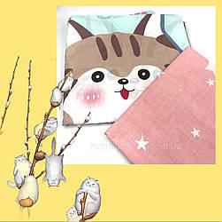 """Полуторний комплект """"Кіт карапуз"""" з бязі Голд (1 наволочка 50х70)"""
