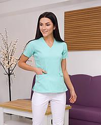 Жіноча медична блуза Асія колір салатовий