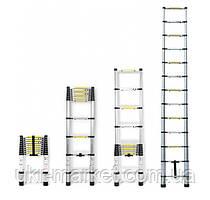 Телескопічна сходи приставні на 13 сходинок