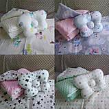 Комплект постельного белья для новорожденных Манюня в кроватку ( коляску) плед + подушка + простынь, фото 4