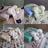 Комплект постельного белья для новорожденных Манюня в кроватку ( коляску) плед + подушка + простынь, фото 5