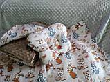 Комплект постельного белья для новорожденных Манюня в кроватку ( коляску) плед + подушка + простынь, фото 9