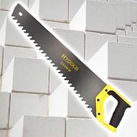 Ножовка по пенобетону, 550 мм. Тефлоновое покрытие полотна, прорезиненная рукоятка. HTools, 10K760, фото 1