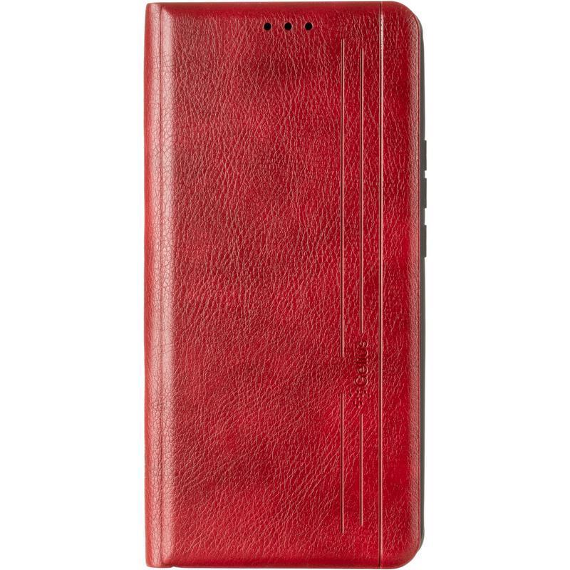 Чехол книжка Samsung A125 (A12) красный кожаный для телефона.