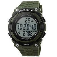 Часы наручные электронные, тактические Skmei 1112, армейские зеленые, в металлическом боксе