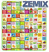 Детский развивающий коврик двухсторонний Английский алфавит/Зоопарк 200x180x0,5см