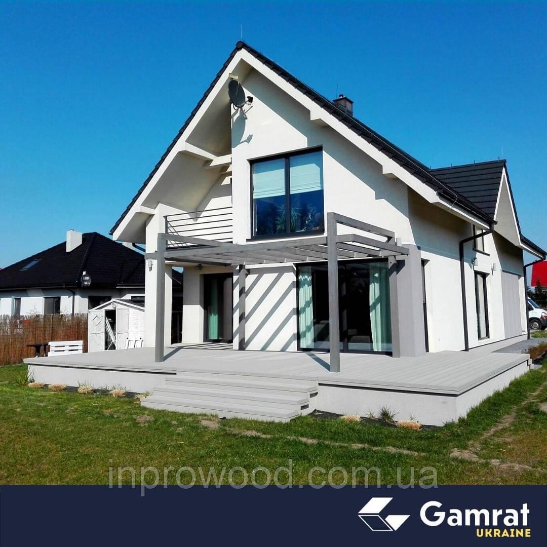 Терасна дошка ДПК Gamrat Польща 25х160х3000 сірий