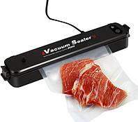 Вакууматор вакуумний пакувальник їжі Freshpack Pro + в подарунок 10 пакетів Black