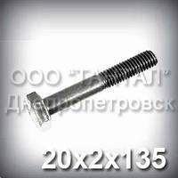 Болт М20х2х135 міцність 10.9 DIN 960 (ГОСТ 7798-70, ГОСТ 7805-70) оцинкований